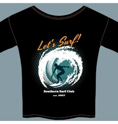 Surf Club t-shirt template design vector image vector image