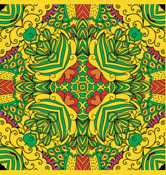 colorful decorative floral pattern vector image