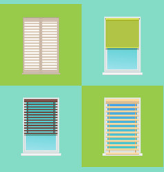 four patterns of various multicolored jalousies vector image