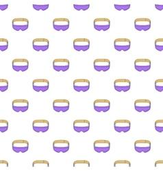 Sleep mask pattern cartoon style vector