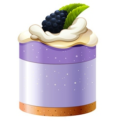 Blackberry cake with crust base vector