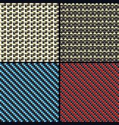 carbon fiber kevlar and decorative vector image vector image
