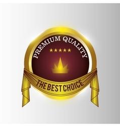 seal guaranteed premium quality gold vector image vector image
