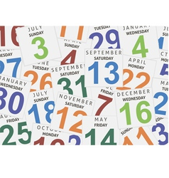 Sheets of a calendar vector image vector image