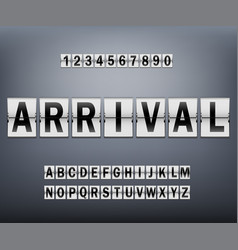 alphabet on scoreboard set black letters vector image