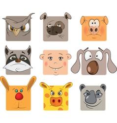 Animal icons cartoon vector image