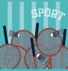 Badminton sport concept card vector