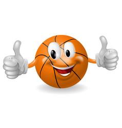 Basket ball mascot vector