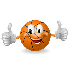 basket ball mascot vector image vector image