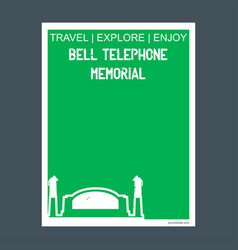 bell telephone memorial brantford ontario vector image