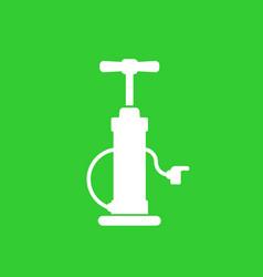 bicycle air pump icon vector image