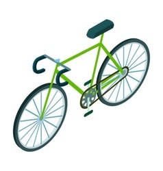 Bicycle icon in cartoon style isolated on white vector image