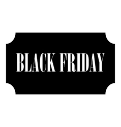 Black Friday icon simple style vector