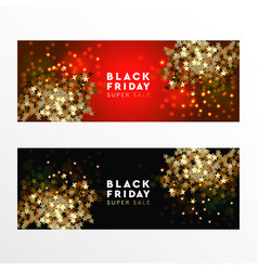 black friday super sale web banners vector image