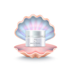 brand face cream in shell vector image