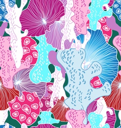 Bright pattern of coral vector