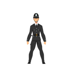 British police officer in uniform professional vector