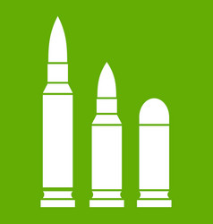 bullets icon green vector image