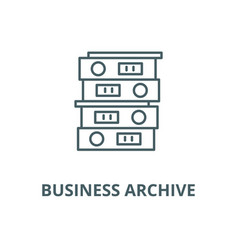business archive line icon linear concept vector image