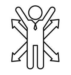 Career opportunity icon outline style vector