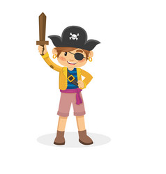 Cartoon of children pirate vector