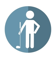 character golf player uniform shadow vector image