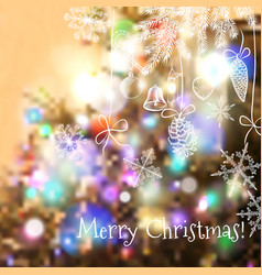 Christmas blurred background for design vector