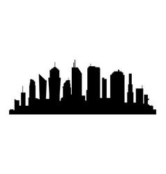 city silhouette on white background business vector image