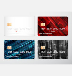 credit card mockup realistic detailed credit vector image
