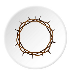 Crown of thorns icon circle vector
