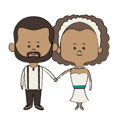 cute couple husband wife in wedding suit happy vector image