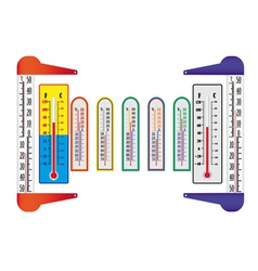 Different thermometers vector