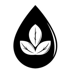 drop eco icon simple black style vector image