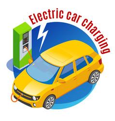 electromobile charging station background vector image