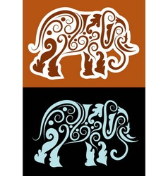Elephant cutting sticker vector image