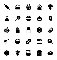 Food and Drinks Icons 4 vector image