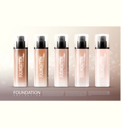 foundation skin treatment realistic template vector image