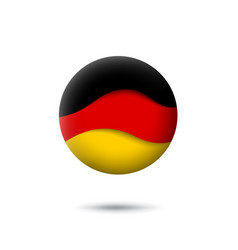germany flag icon in shape circle waving vector image