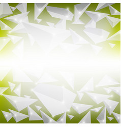 green crystal pattern vector image