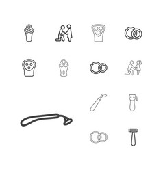 Groom icons vector