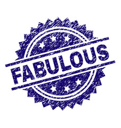 grunge textured fabulous stamp seal vector image