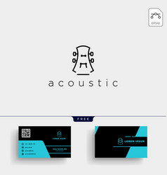 Guitar music initial a logo template and business vector
