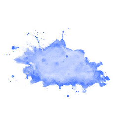 hand painted blue watercolor stain texture vector image