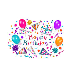 Happy birthday greeting card banner poster design vector