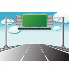 highway information vector image