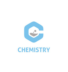 Icon initial letter c chemistry science lab logo vector