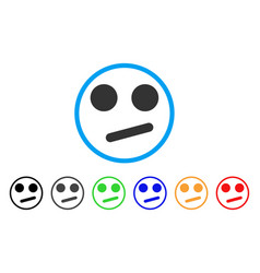 Indifferent smiley smile rounded icon vector