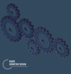 infographic template isometric gears vector image