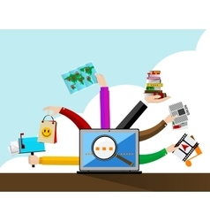 Internet browser vector image