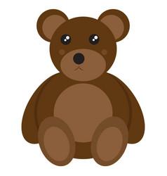isolated teddy bear toy vector image